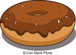 Donut with chocolate coating Vector Clip Art EPS Images. 7 Donut.
