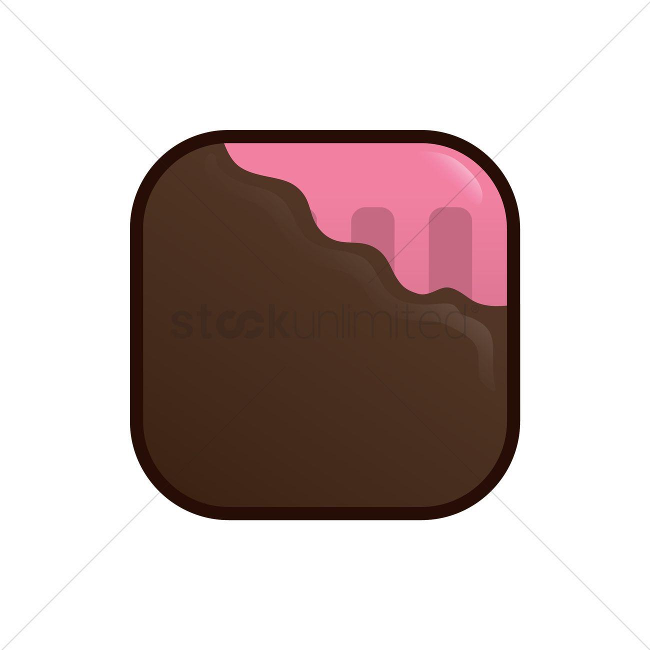 Ice cream bar with chocolate coating Vector Image.