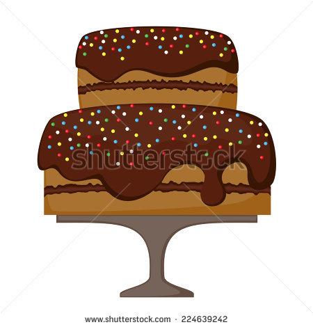 Big Chocolate Cake Isolated Stock Photos, Royalty.