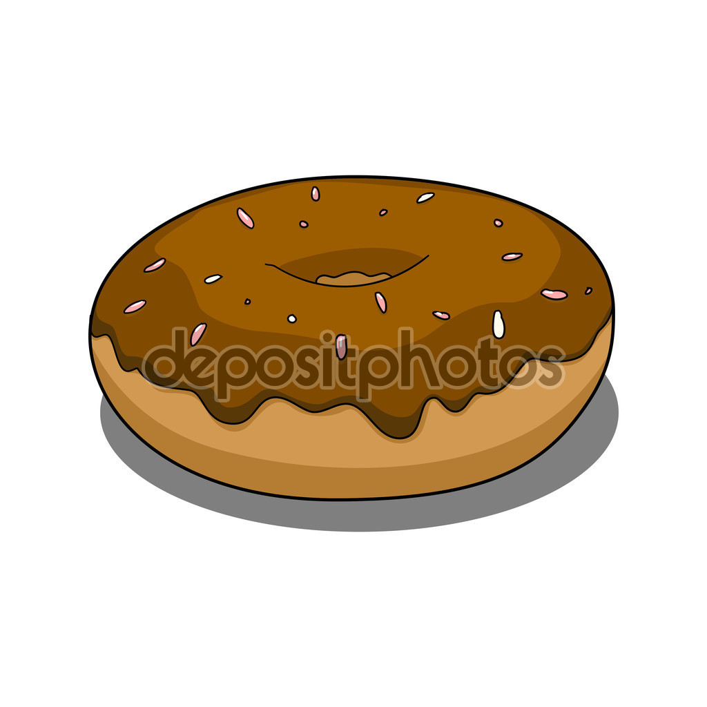 Donut with chocolate coating — Stock Vector © AlexanderPokusay.