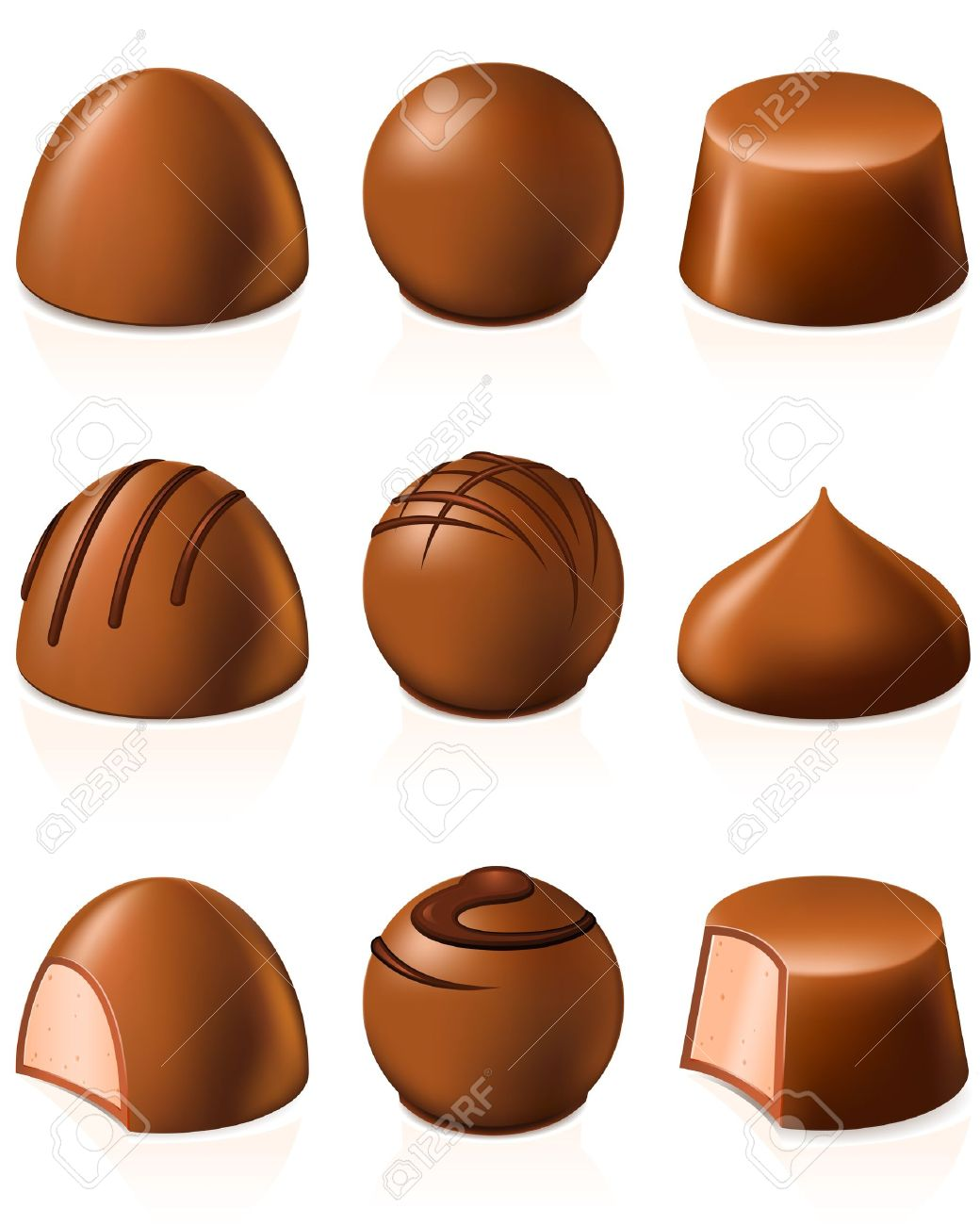 Truffle chocolates clipart #10