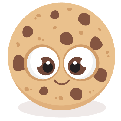 Bitten chocolate chip cookies clipart.