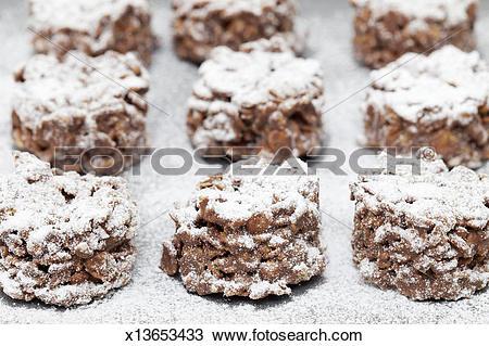 Stock Photo of Chocolate cornflake cakes x13653433.