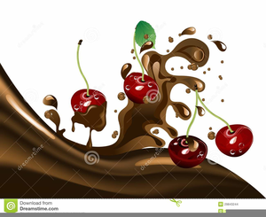 Chocolate Covered Cherries Clipart.
