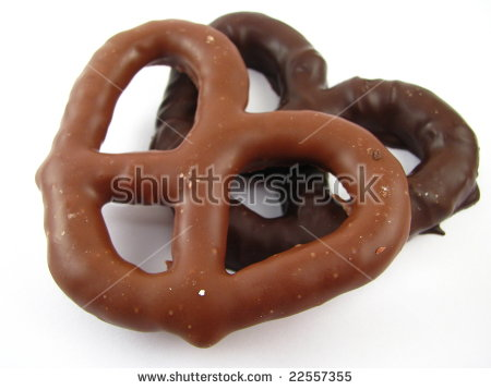 Chocolate Covered Pretzels Stock Images, Royalty.