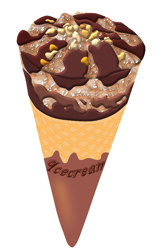 Image of Ice Cream Clipart #12122, Free Chocolate Ice Cream in.