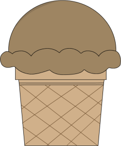 Chocolate Ice Cream Cone Clip Art.