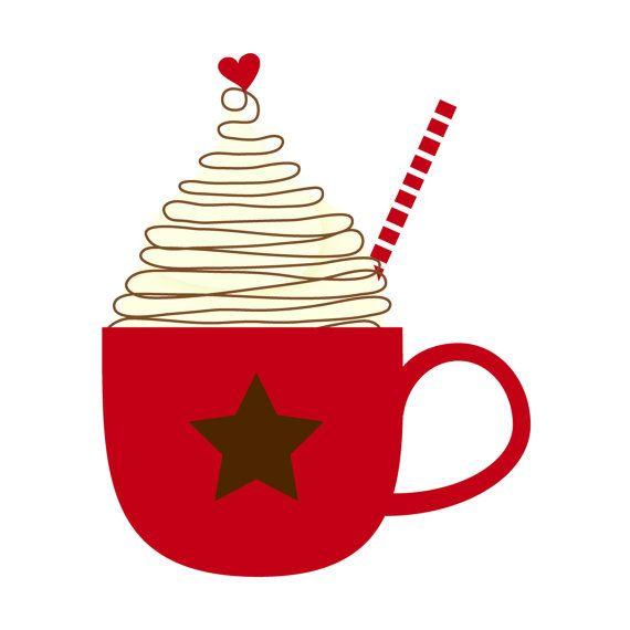 Cup of Hot Cocoa Clip Art Single by by kimsclipartshop on Etsy.