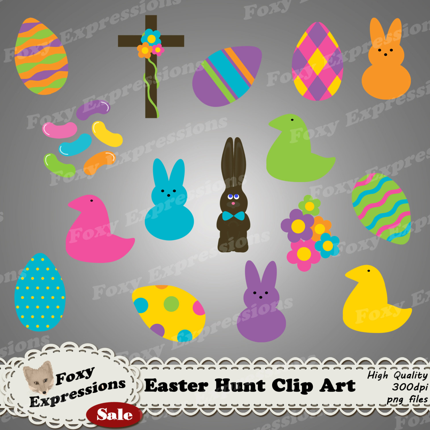 Easter chocolate cross clipart.