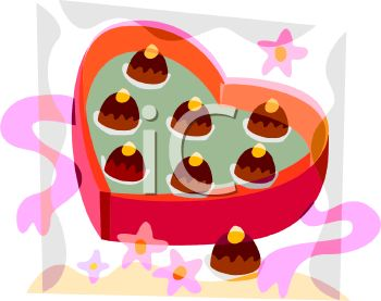 A Heart Shaped Box Of Chocolate Candies.