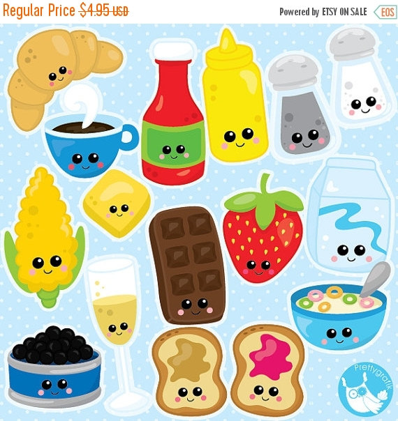 80% OFF SALE Food clipart commercial use by Prettygrafikdesign.