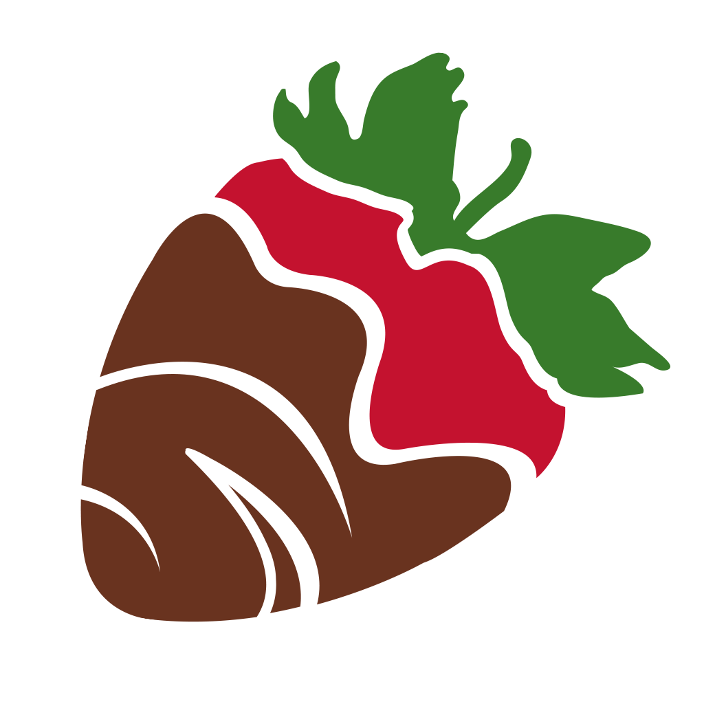 Chocolate Covered Strawberries Clipart.