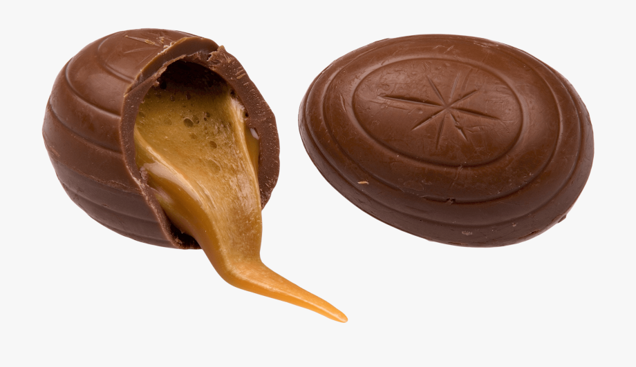 Caramel And Chocolate Easter Egg.