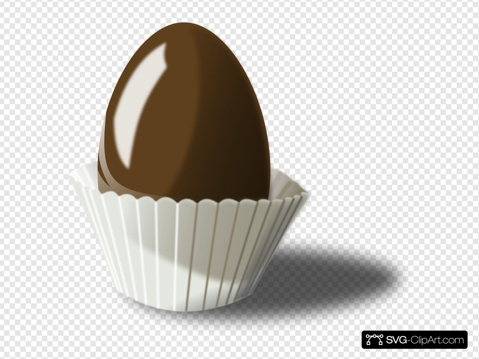 Chocolate Easter Egg Clip art, Icon and SVG.