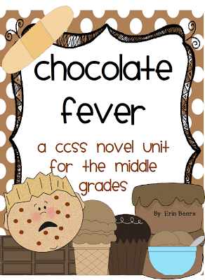 Fluency Tools and My Chocolate Fever CCSS Novel Unit.