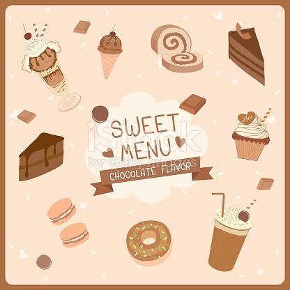 Dessert Chocolate Flavor stock vector art 612373268.