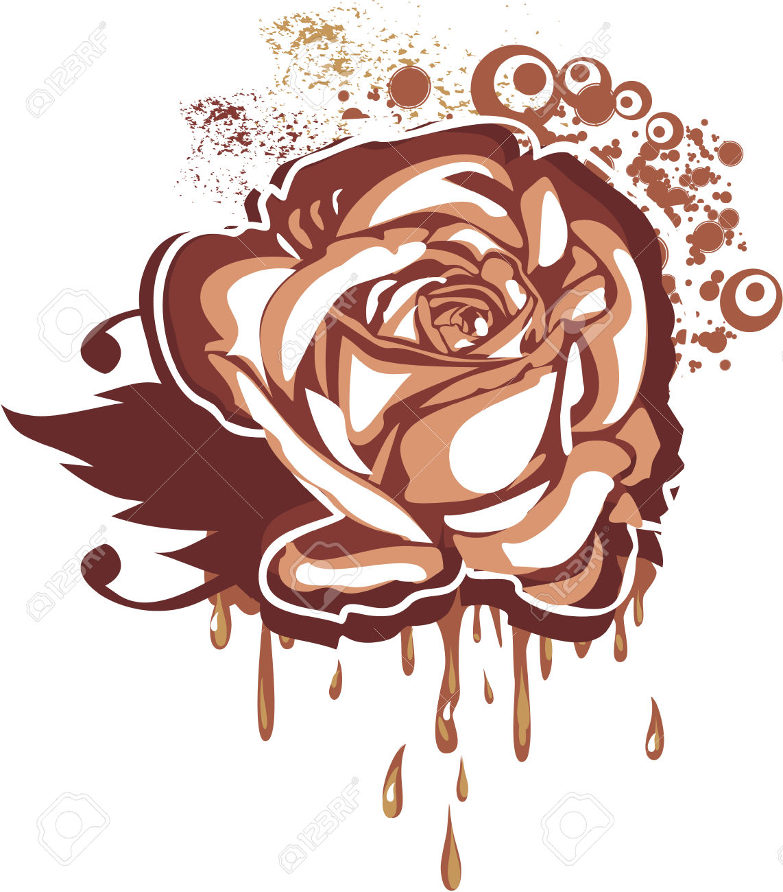 Chocolate Rose Royalty Free Cliparts, Vectors, And Stock.