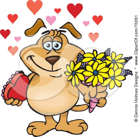 Dog clipart flower.
