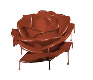 Chocolate Rose Stock Illustrations.