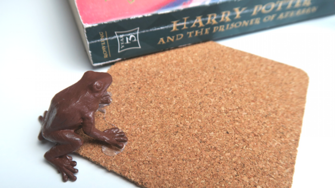How to Make Harry Potter DIY Chocolate Frog Coasters.