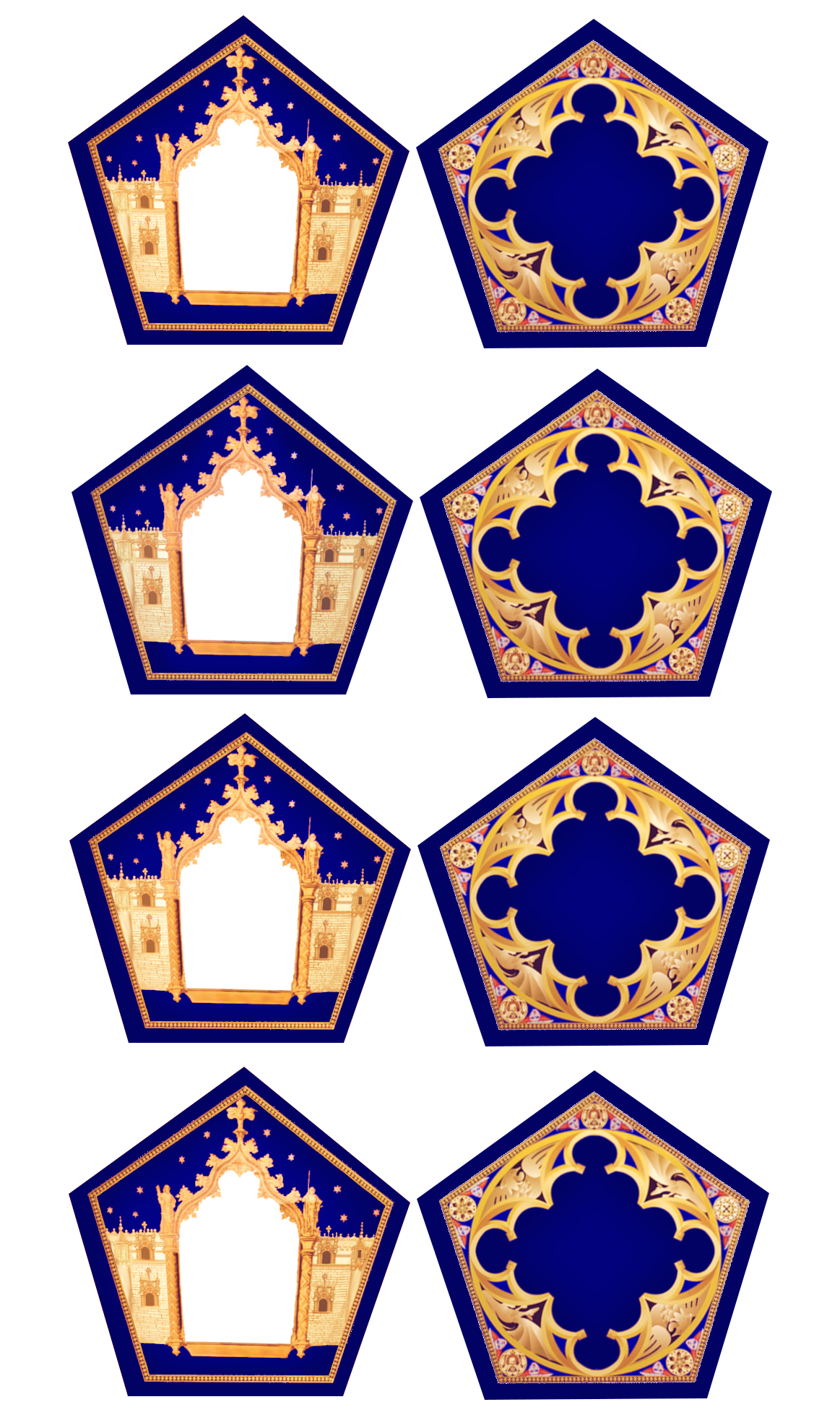 Chocolate frog card template.
