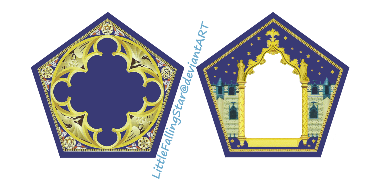 This is a Harry Potter Chocolate Frog Card template. Insert picture.