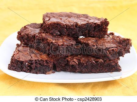 Stock Photos of Brownies.