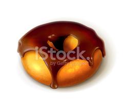 Ring Donut IN Chocolate Glaze stock vectors.