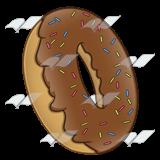 A Beka Book :: Clip Art :: Doughnut—with chocolate glaze and sprinkles.