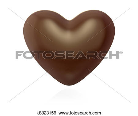 Drawings of Five heart shaped chocolate candies k8823184.