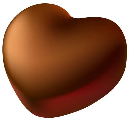 Chocolate Heart PNG Picture Clipart.