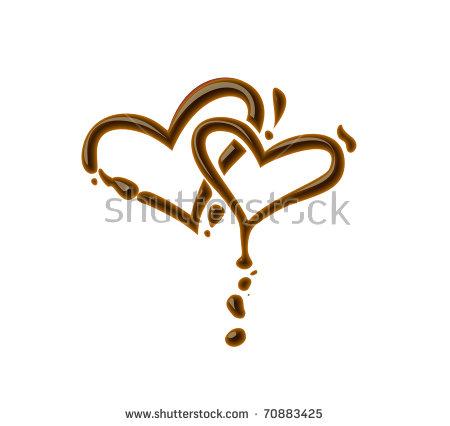 Chocolate Heart Stock Photos, Royalty.