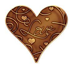 Chocolate Heart Clip Art.