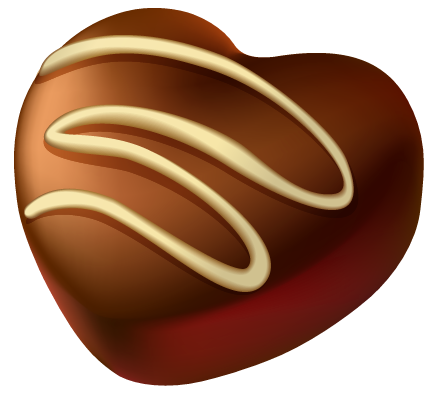 Heart of Chocolate PNG Picture Clipart.