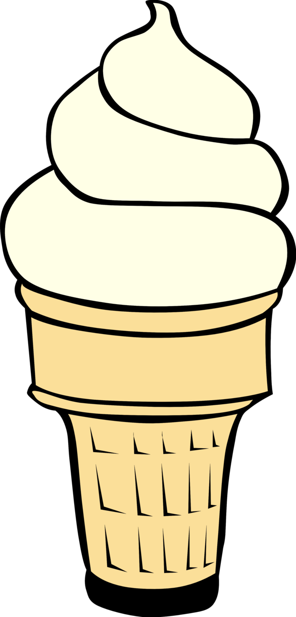 Chocolate ice cream cone clipart.