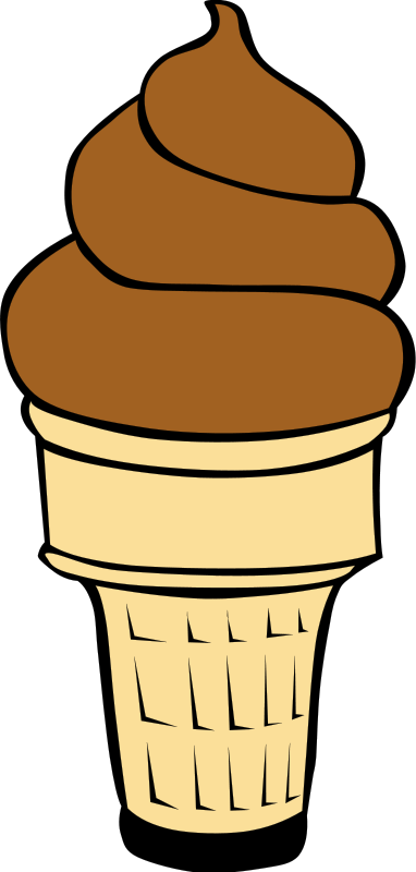 Chocolate Ice Cream Cone Clip Art.