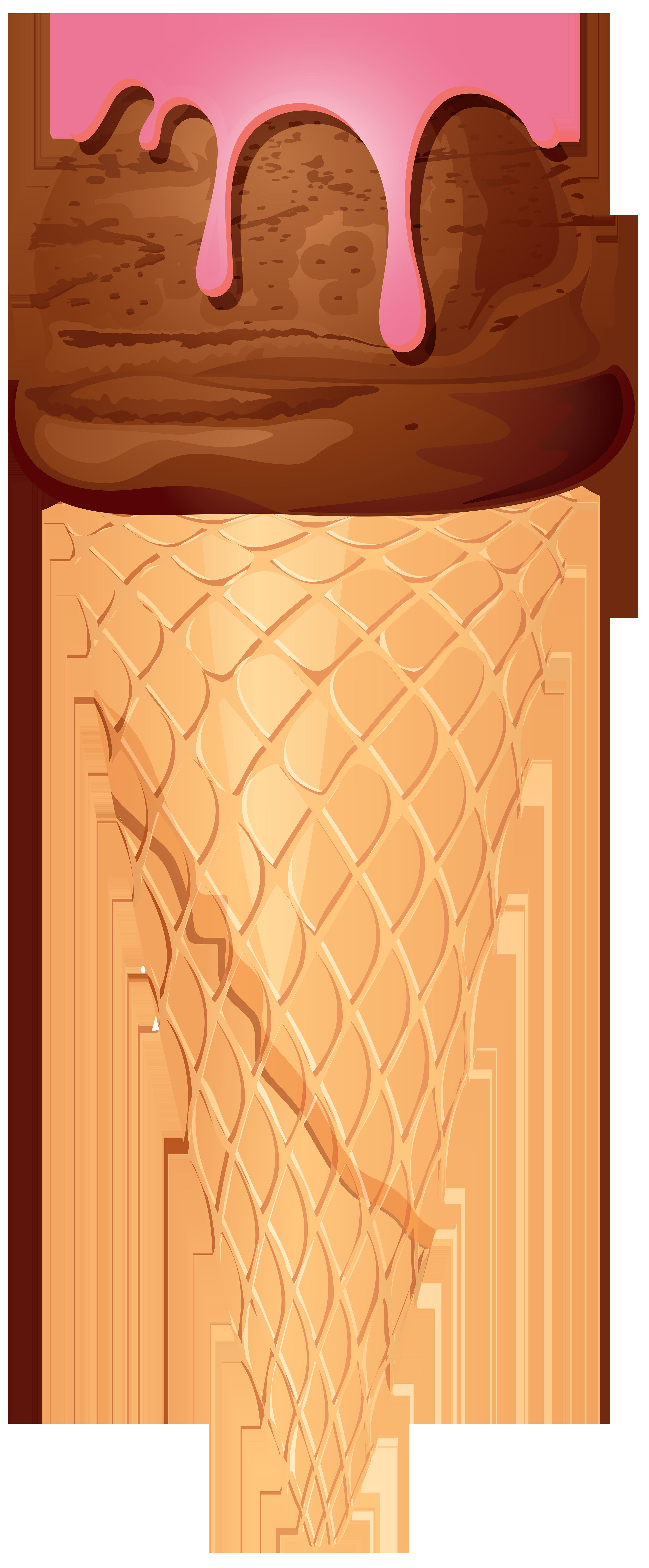 Chocolate Ice Cream Cone PNG Clip Art.