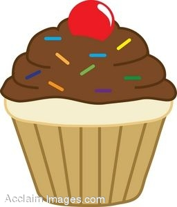 Clipart of a Cupcake.