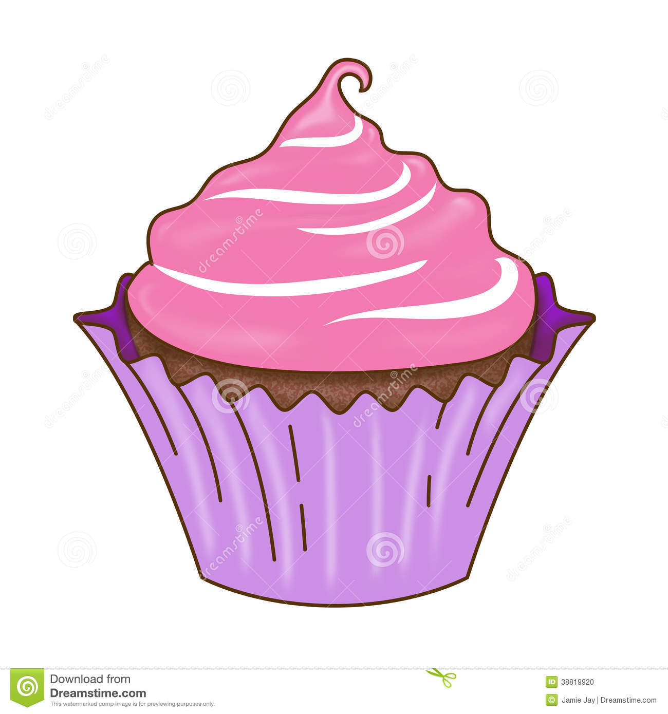 Cupcake icing clipart.