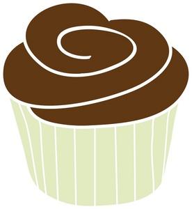 Chocolate Cupcake Clipart.