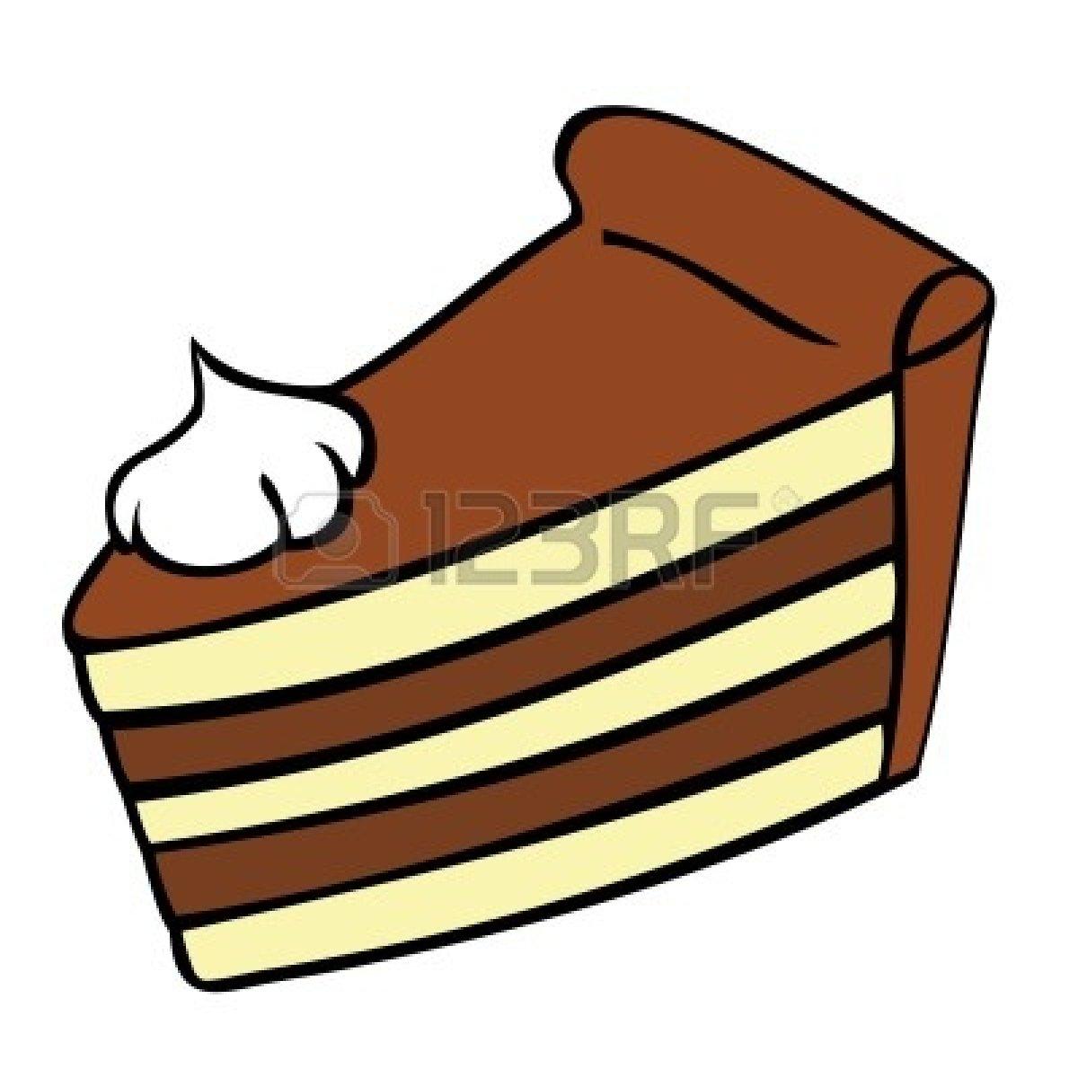 Clip Art Slice Of Chocolate Cake Clipart.