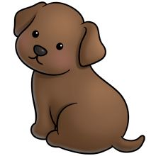 Chocolate labrador clipart.