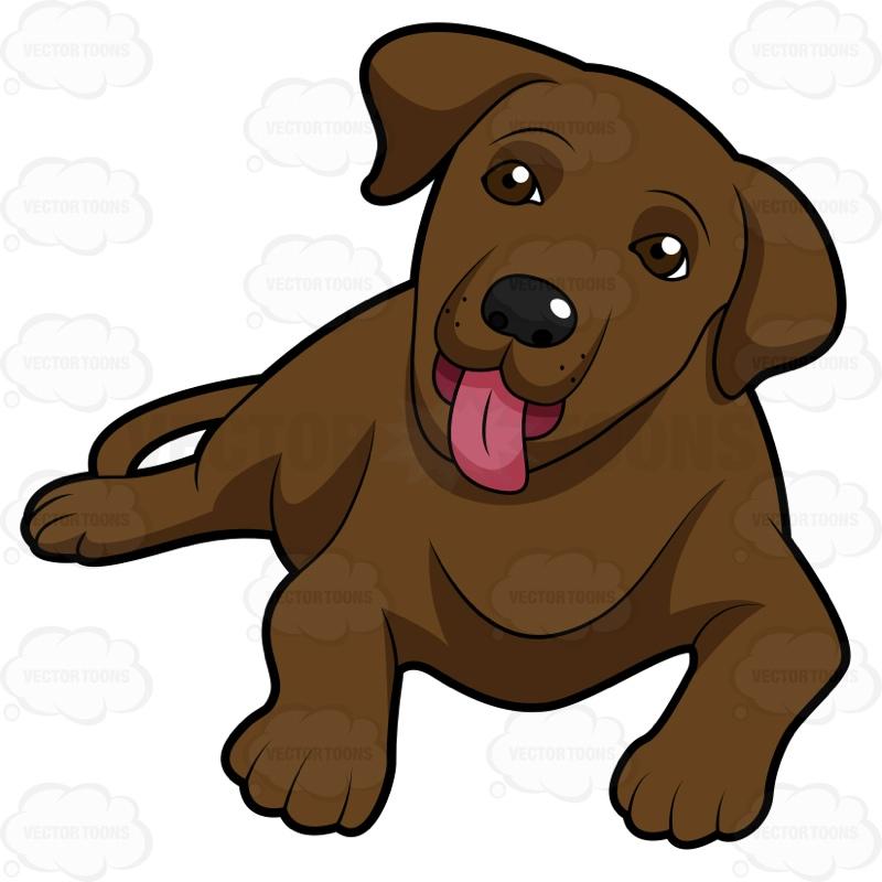 Chocolate lab puppy clip art.