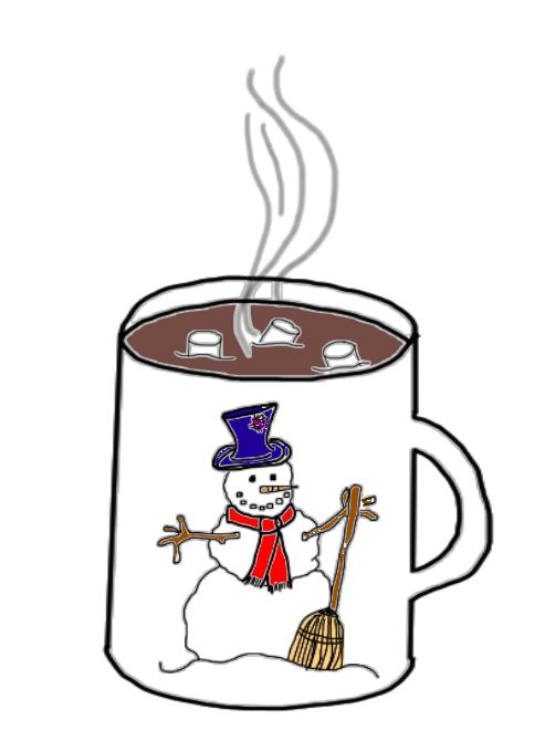 Clip Art Hot Chocolate with Marshmallows.