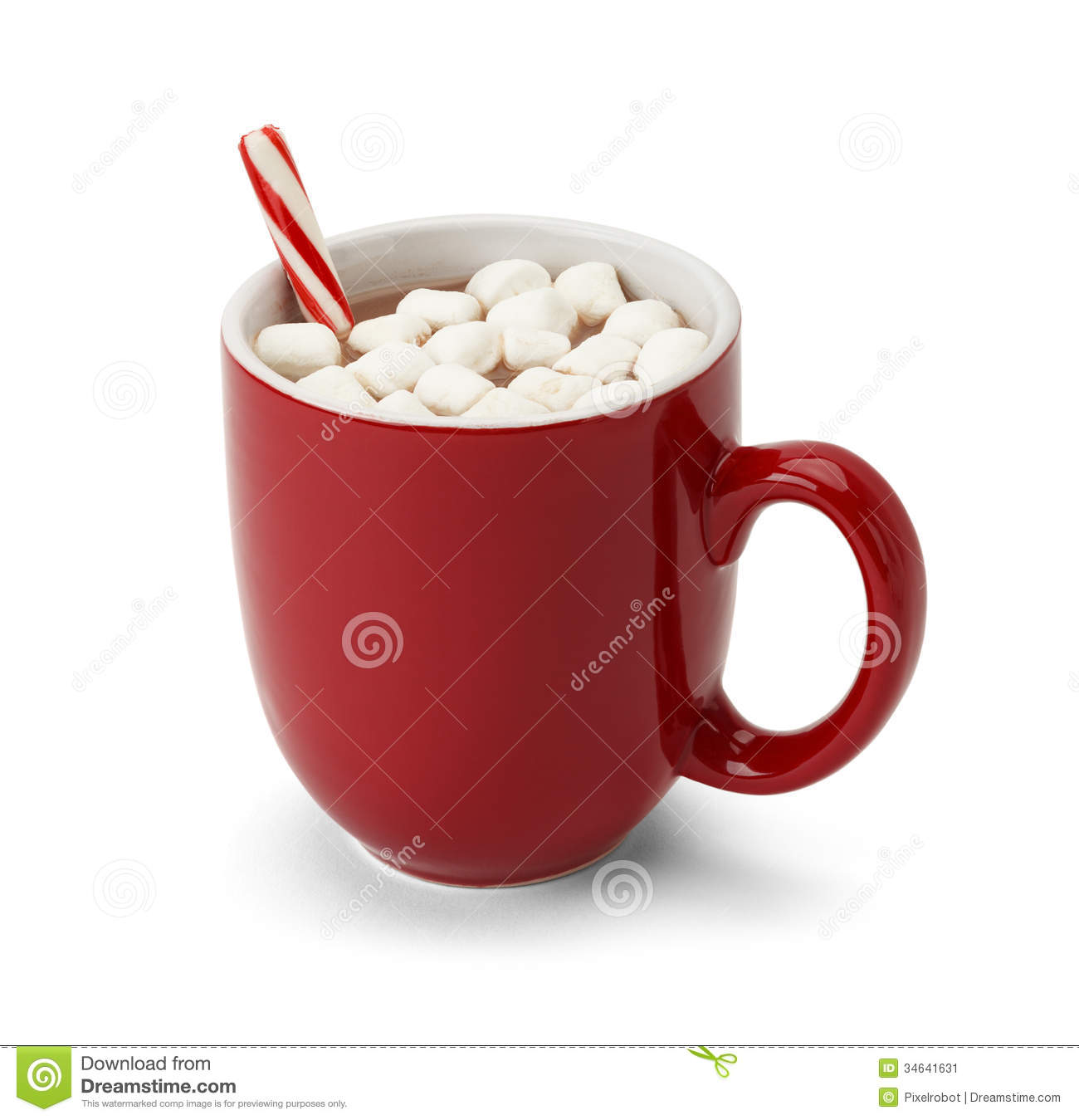 Hot Cocoa With Marshmallows Clipart.