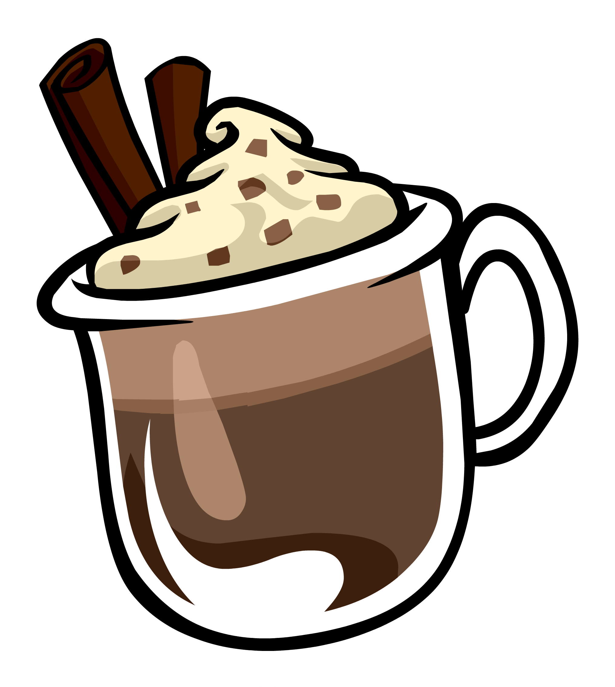 Hot chocolate with marshmallows clip art.