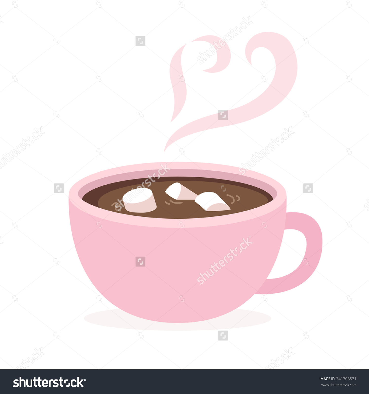 Hot chocolate with steam clipart.