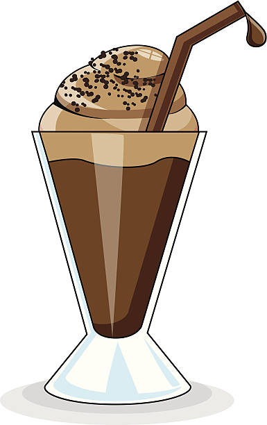Best Chocolate Milkshake Illustrations, Royalty.