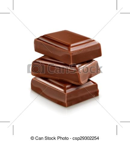 Clipart Vector of Chocolate pieces illustration.