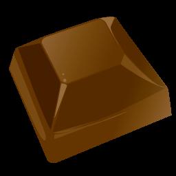 Free Icons: Chocolate piece Icon.